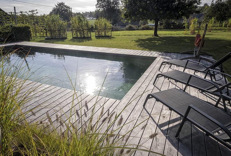 piscine privée naturelle Belgique Robertville